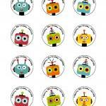 Robot Party Printable Set - Banner,..